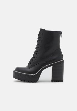 KARMA - High heeled ankle boots - black paris
