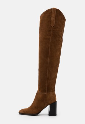 ESTER KNEE BOOT - High heeled boots - cognac