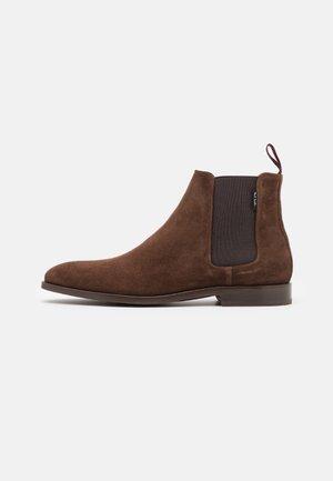 GERALD - Korte laarzen - dark brown