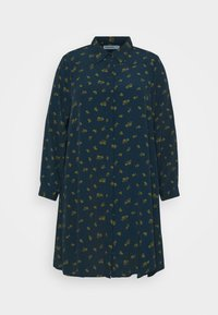 HEART PRINT DRESS - Shirt dress - olive