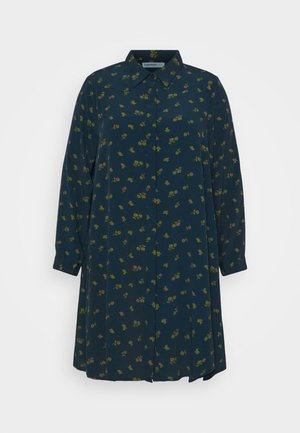 HEART PRINT DRESS - Shirt dress - olive