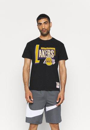 NBA LOS ANGELES LAKERS CENTRE CIRCLE TEE - Squadra - black