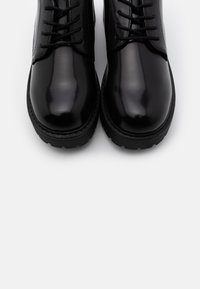Monki - VEGAN DENISE SHOE - Lace-ups - black - 5