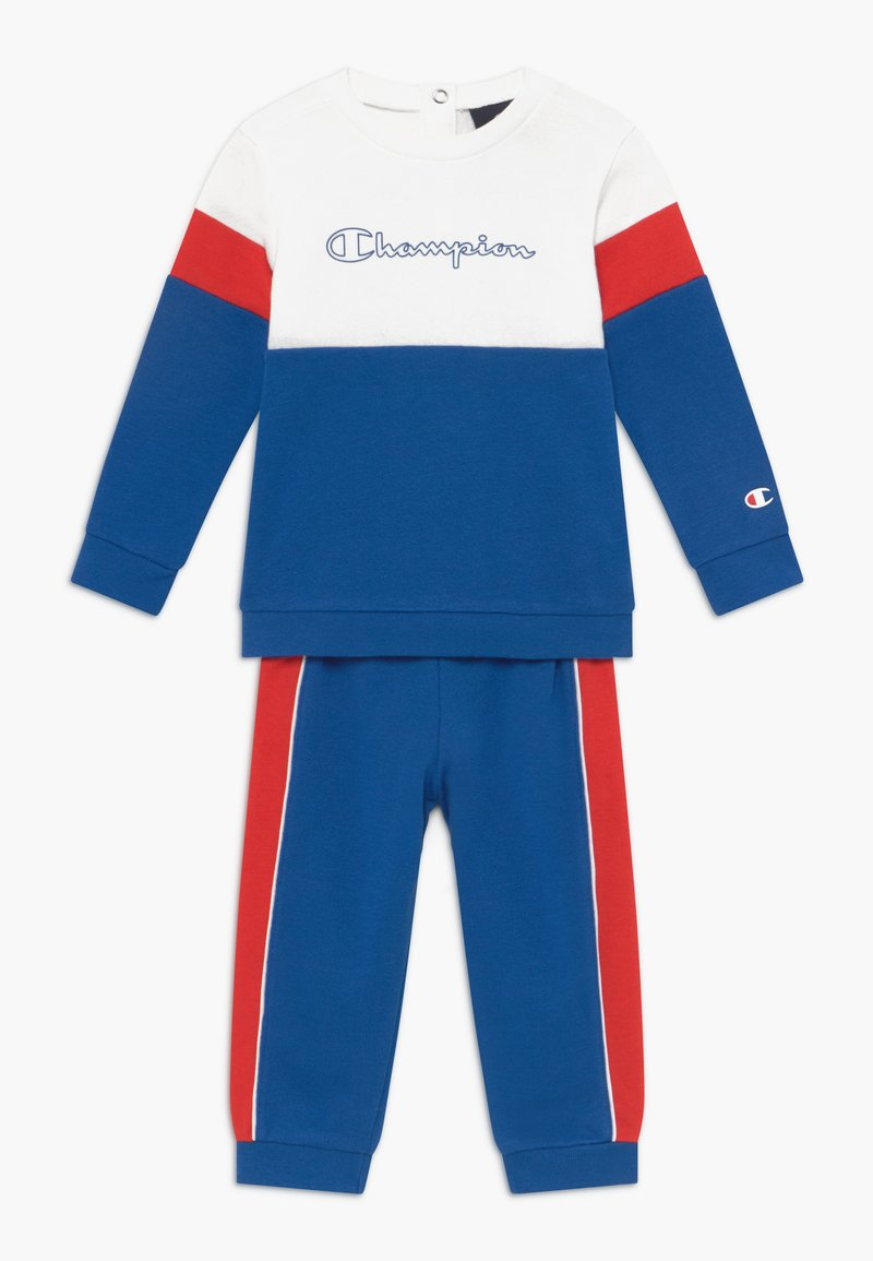 Champion - TODDLER COLORBLOCK SET - Survêtement - blue/white/red