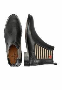 Crickit - CHELSEA BOOT SUVI MIT STREIFEN UND HERZCHEN - Classic ankle boots - schwarz - 2