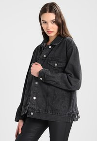 Missguided - OVERSIZED JACKET - Cowboyjakker - black - 0