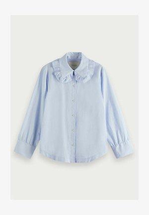 Button-down blouse - powder blue