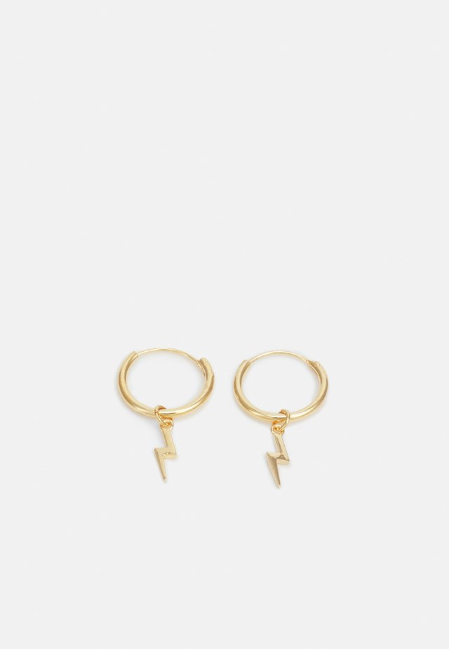 LIGHTNING DROP MICRO HOOP - Boucles d'oreilles - pale gold-coloured