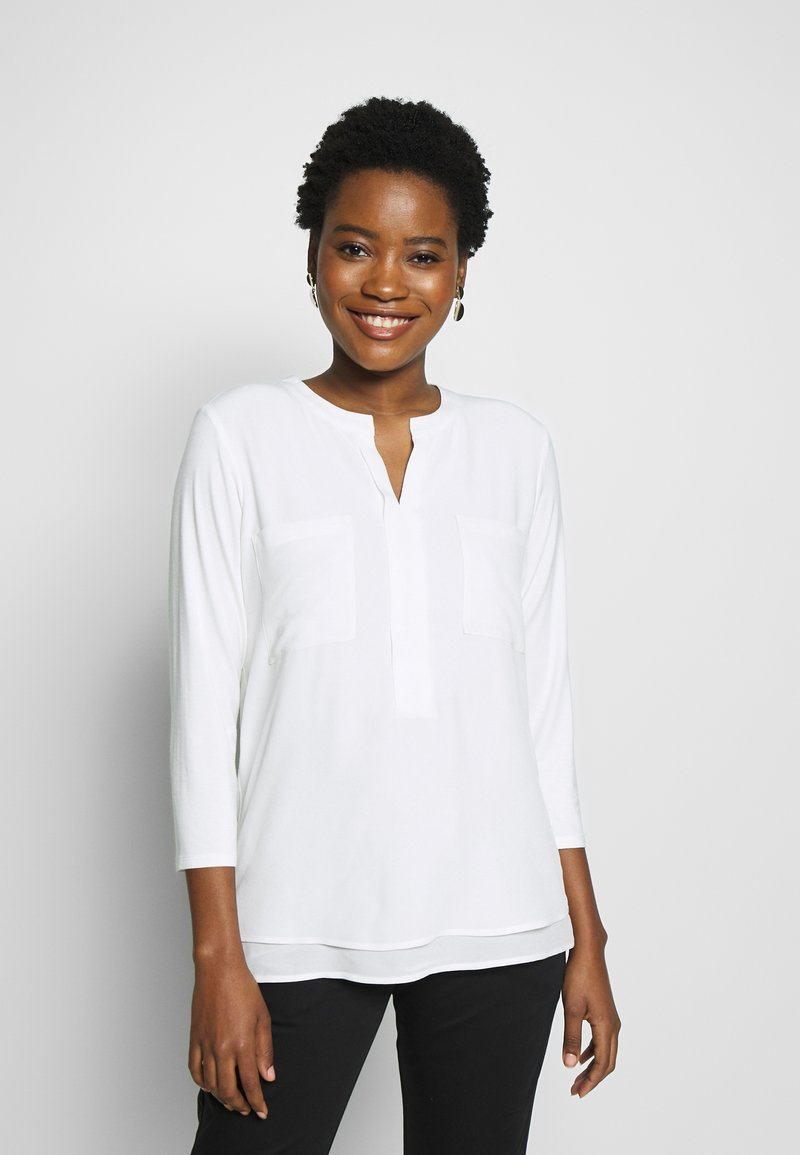 comma casual identity - 3/4 ARM - Blouse - ivory