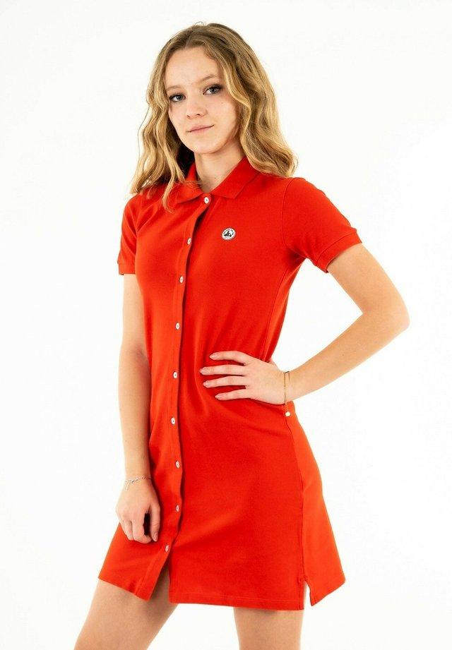 Robe chemise - rouge