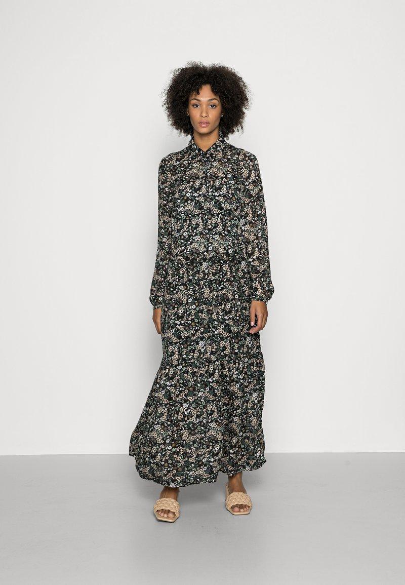 Marc O'Polo - DRESS BOHEMIAN PRINT STYLE FEMININE VOLUME GATHERINGS - Maxi dress - multi