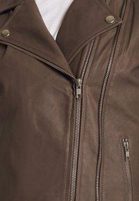 DEPECHE - JACKET - Leather jacket - dusty taupe - 6