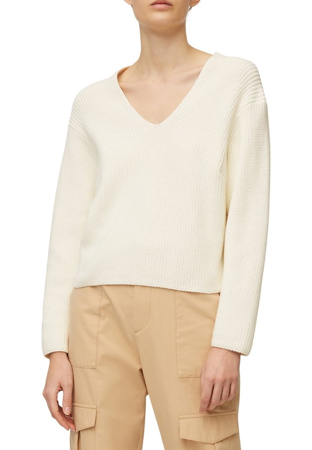 Sweter - clear white