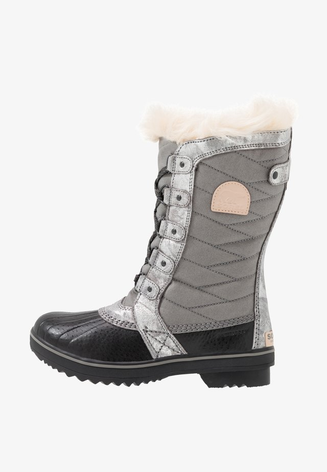 YOUTH TOFINO II FOIL - Winter boots - quarry/natural tan