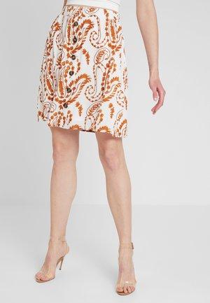 Mini skirt - gardenia/brown