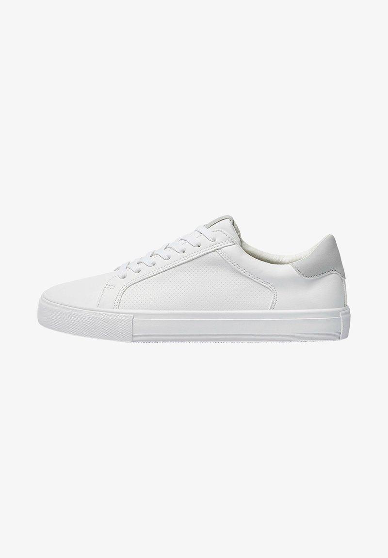 PULL&BEAR - MIT BROGUING - Sneakers basse - white