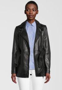7eleven - Leather jacket - black - 0