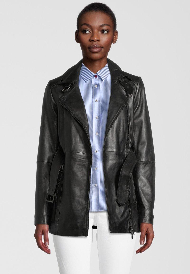 7eleven - Leather jacket - black