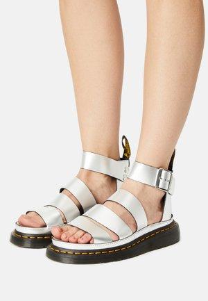 CLARISSA II - Platform sandals - silver