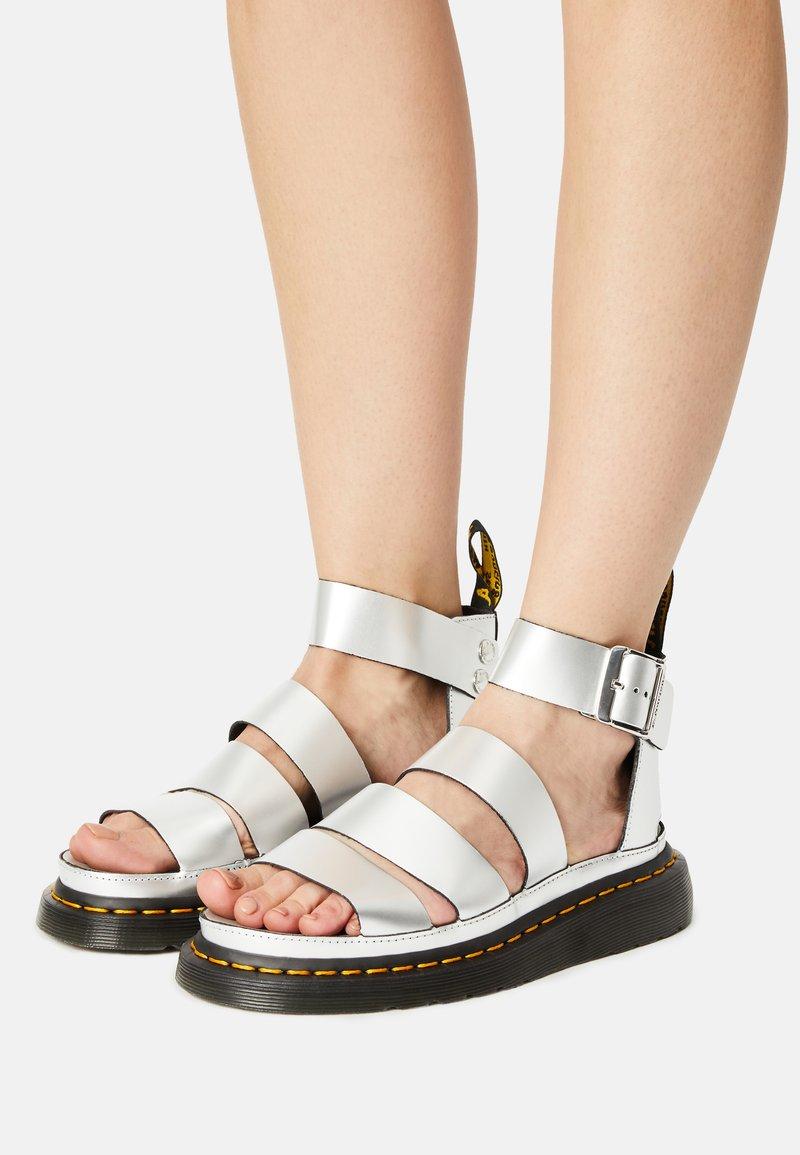 Dr. Martens - CLARISSA LI - Platform sandals - silver