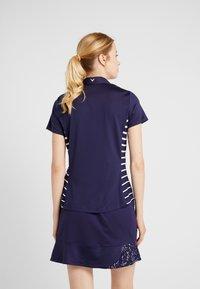 Callaway - CONFETTI PRINT WITH STRIPES - T-shirt sportiva - peacoat - 2
