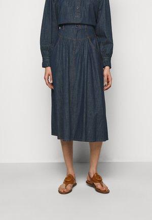 Denimová sukně - denim blue