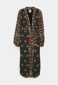 GRAPHIC SHINE LONG KIMONO - Classic coat - multi
