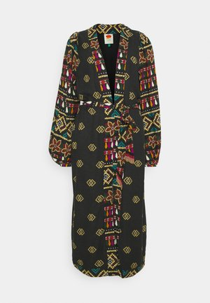 GRAPHIC SHINE LONG KIMONO - Classic coat - multi