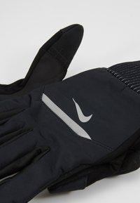 Nike Performance - MENS SHIELD RUNNING GLOVES - Fingervantar - black/wolf grey/silver - 3