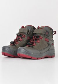 Keen - REDWOOD MID WP - Lace-up ankle boots - steel grey/red dahlia - 2