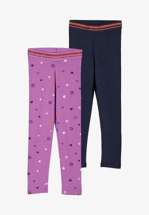 Leggings - Trousers - lilac aop/blue uni