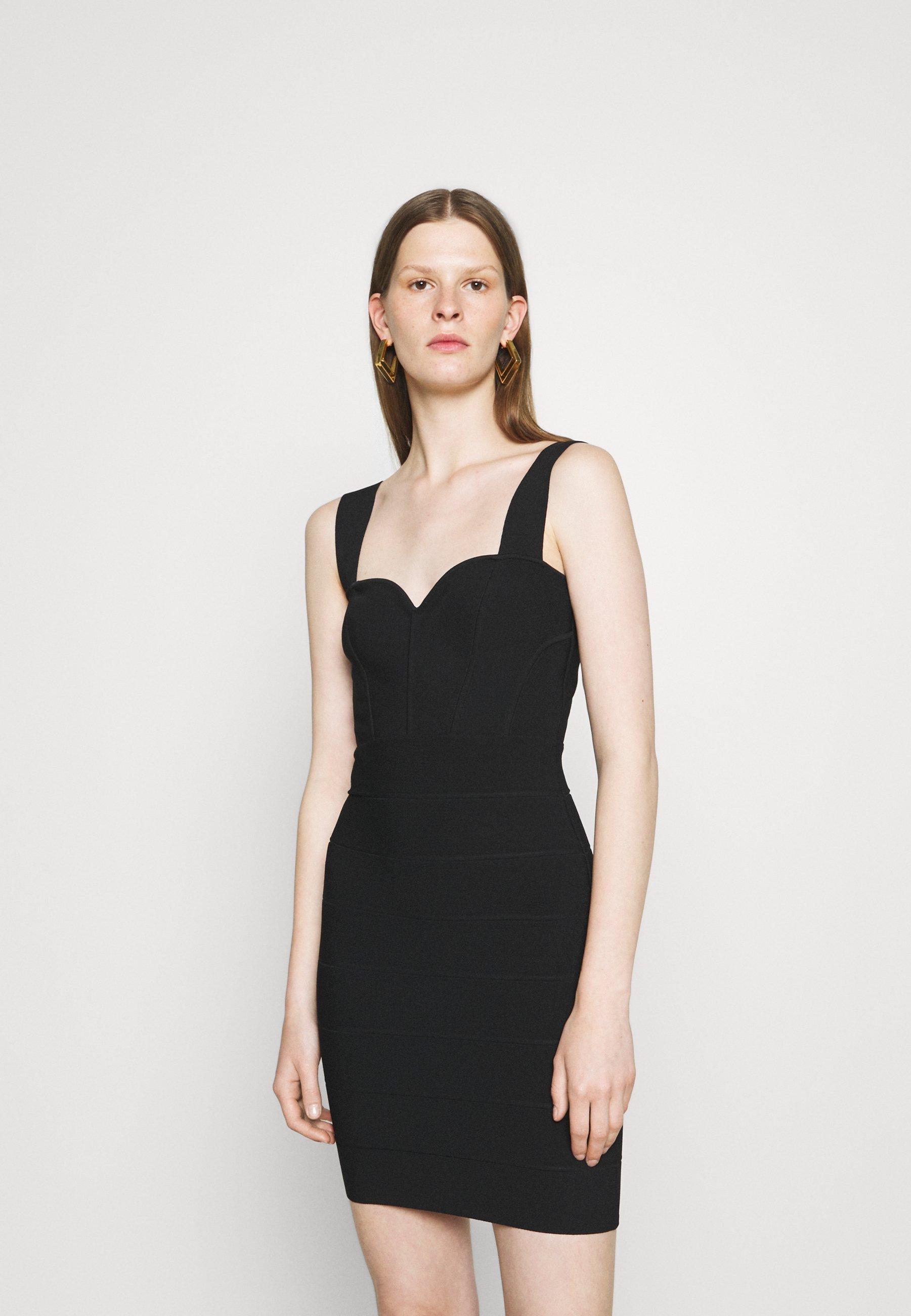 Women HERVE LEGER X JULIA RESTOIN ROITFELD SWEETHEART CORSET MINI DRESS - Shift dress
