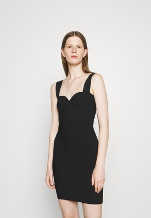 HERVE LEGER X JULIA RESTOIN ROITFELD SWEETHEART CORSET MINI DRESS - Etui-jurk - black