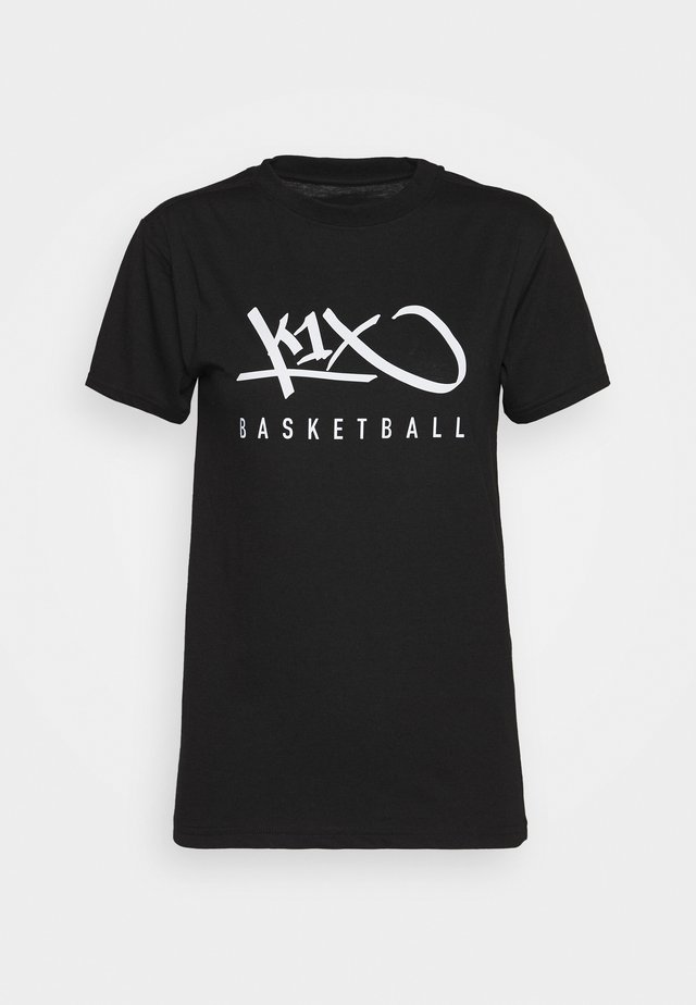HARDWOOD - Print T-shirt - black