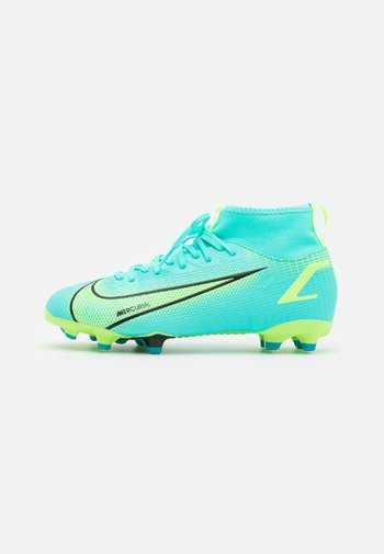 MERCURIAL 8 ACADEMY MG UNISEX - Moulded stud football boots - dynamic turquoise/lime glow