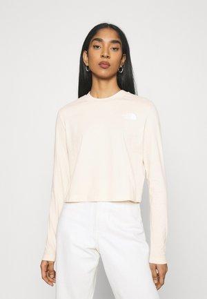 CROP TEE - Long sleeved top - pink tint