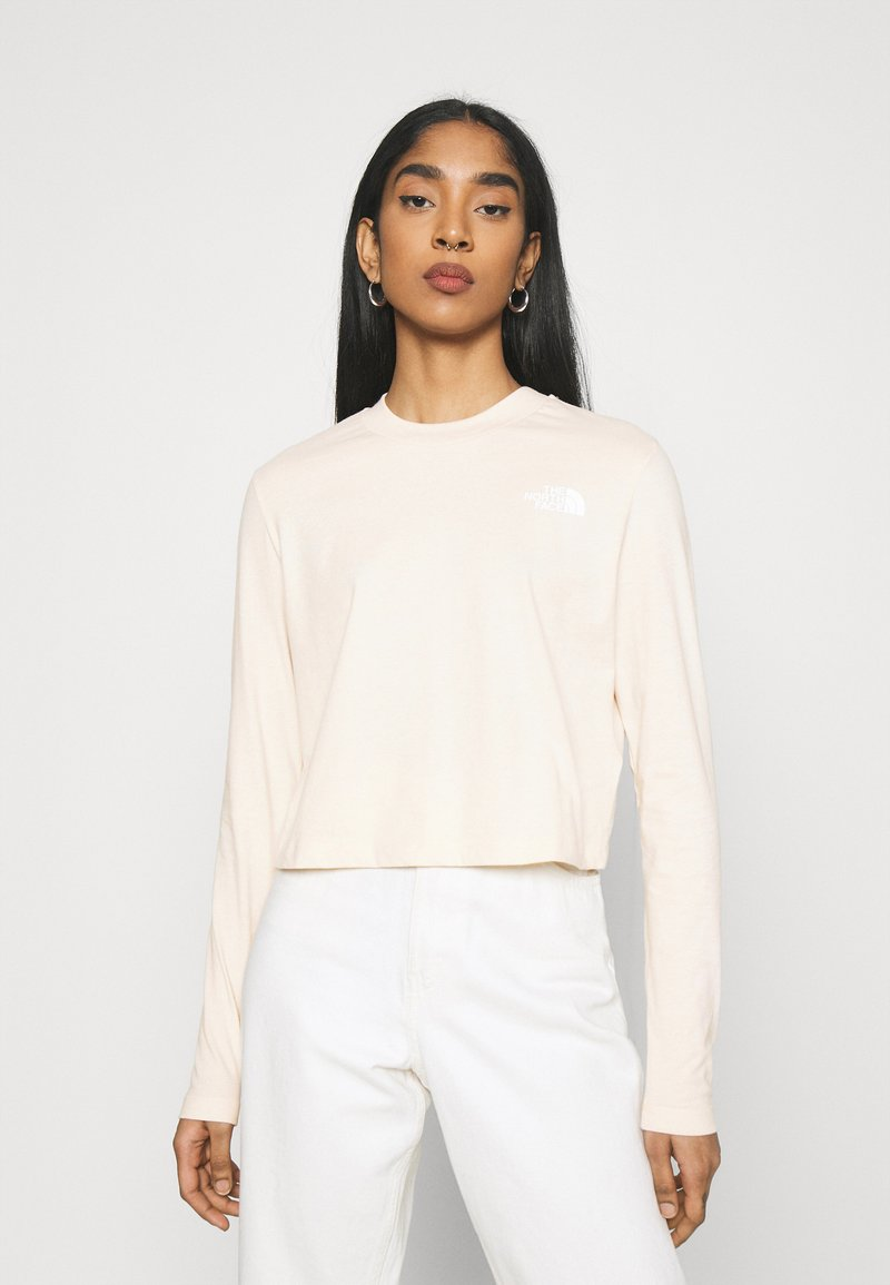The North Face - CROP TEE - Long sleeved top - pink tint