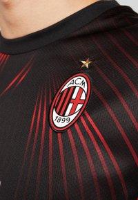Puma - AC MAILAND 1899  - Club wear - black/tango red - 3