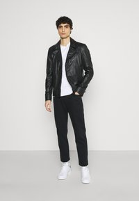 Strellson - PARKS - Leather jacket - black - 1