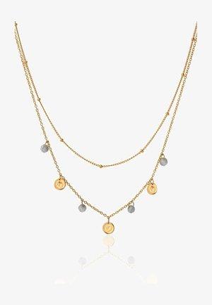 LABRADORITE COINS  - Necklace - oro