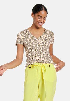Camiseta estampada - offwhite gemustert