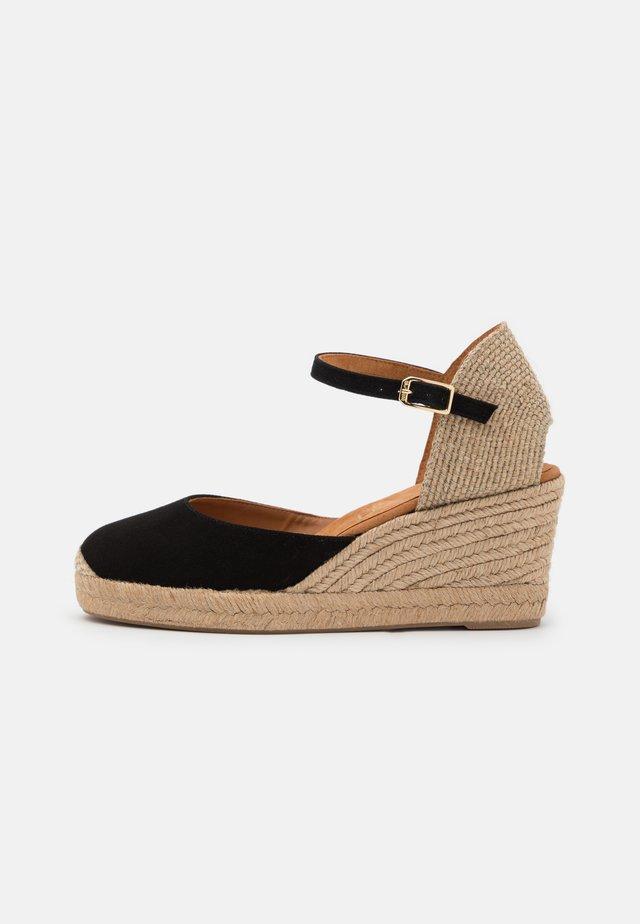 CACERES - Sandalen met plateauzool - black