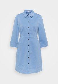Marc O'Polo - DRESS SHORT SHIRT STYLE,BUTTON PLACKET ROUNDED HEMLINE - Shirt dress - blue - 0