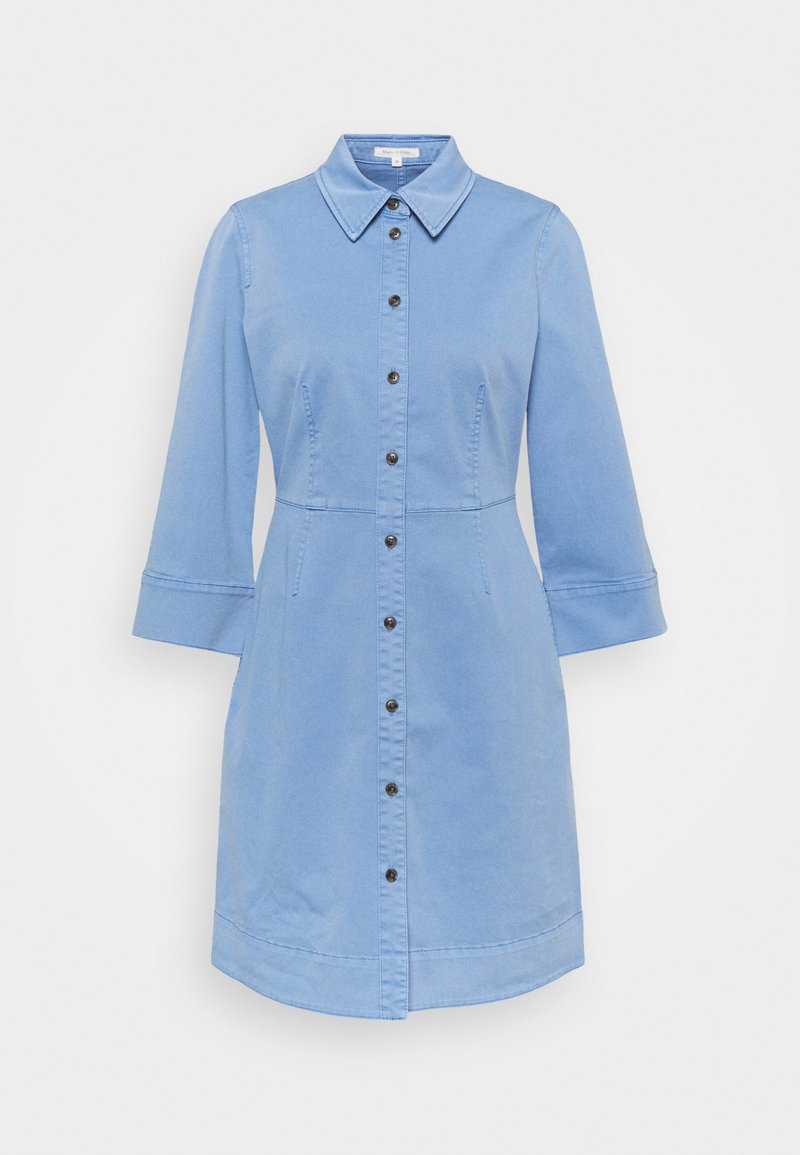 Marc O'Polo - DRESS SHORT SHIRT STYLE,BUTTON PLACKET ROUNDED HEMLINE - Shirt dress - blue