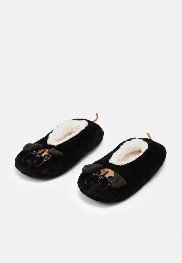 BOXER DOG SLIPPERS  - Enkelsokken - black