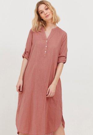 Shirt dress - canyon rose