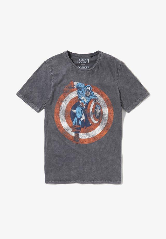 MARVEL CAPTAIN AMERICA SHIELD - T-shirt print - grau