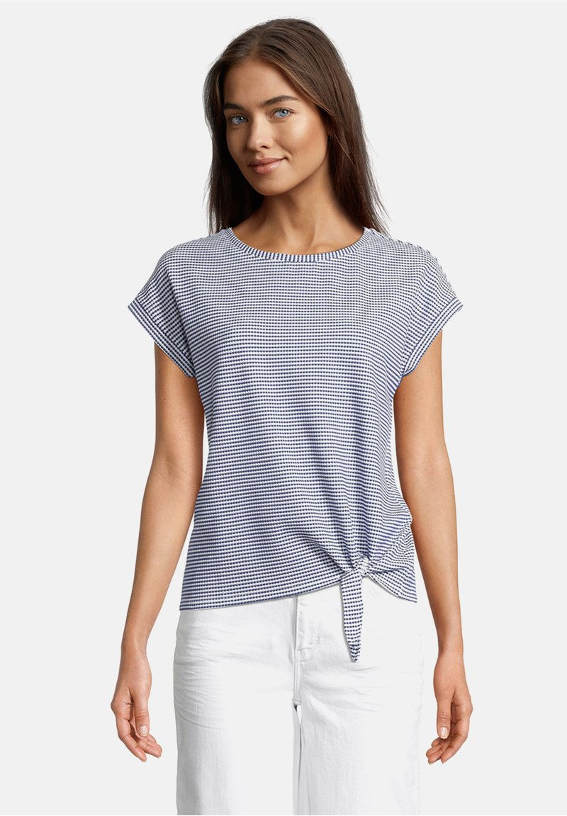 Betty & Co - Print T-shirt - blau/weiß