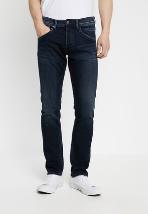 TRACK - Straight leg jeans - black used gymdigo