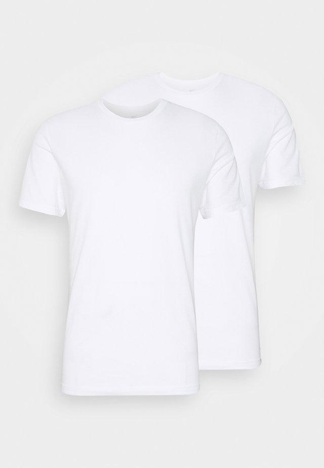 CREW NECK 2 PACK - Undershirt - white